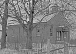 Middlebrook School, c. 1980. A rural one-room schoolhouse in Pilkington. [Credit: Guelph Mercury]